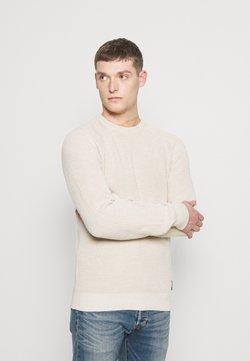 Selected Homme - SLHIRVING CREW NECK - Sweter - bone white