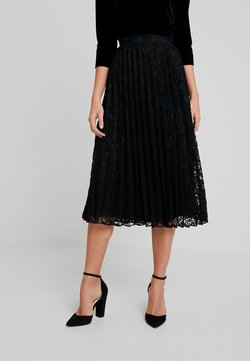 TOM TAILOR DENIM - PLEATED SKIRT - Spódnica trapezowa - deep black