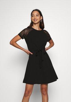 Vero Moda - VMJASMINE LACE TIE SHORT DRESS - Jerseykleid - black