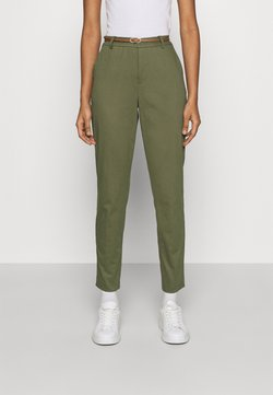 b.young - DAYS CIGARET PANTS  - Chinot - olive night