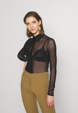 Weekday - AVICE - Button-down blouse - black