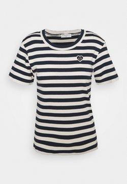 sandro - CHRISTOPHE - T-Shirt print - marine/ecru
