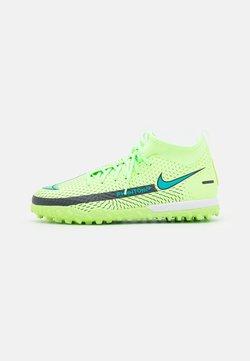 Nike Performance - PHANTOM GT ACADEMY DF TF - Chaussures de foot multicrampons - lime glow/aquamarine