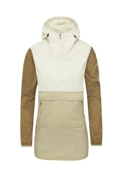 The North Face - THE NORTH FACE FANORAK WINDBREAKER DAMEN - Windbreaker - twill beige / vintage white / british khaki