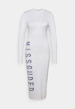 Missguided - BRANDED MIDAXI DRESS - Neulemekko - white