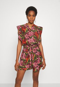 Scotch & Soda - PRINTED ALL IN ONE - Combinaison - dark green, pink, red