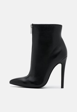 Even&Odd - LEATHER - Bottines à talons hauts - black