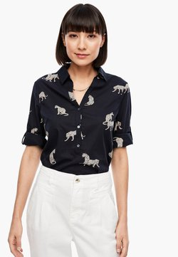 s.Oliver - Bluse - dark blue leopards print