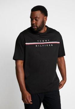 Tommy Hilfiger - CORP SPLIT TEE - T-shirt imprimé - black