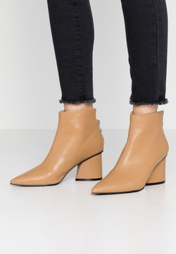 Lost Ink - POINTED ANGUALR HEEL - Boots à talons - tan