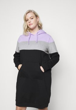 Even&Odd Curvy - Freizeitkleid - lilac/white/black