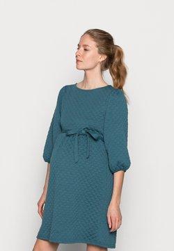 MAMALICIOUS - MLINA SHORT DRESS - Jerseykjoler - mallard blue