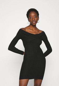 Miss Selfridge - BARDOT MINI DRESS - Etuikleid - black