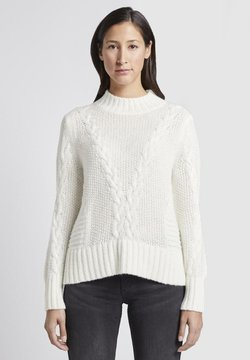TOM TAILOR - Strickpullover - white