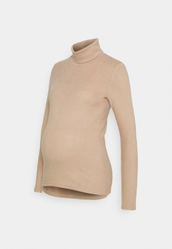 Pieces Maternity - PCMPAM HIGH NECK - Strickpullover - warm taupe