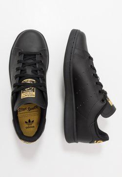 adidas Originals - STAN SMITH - Sneakers laag - core black/gold metallic