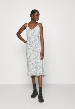 Abercrombie & Fitch - SLIP MIDI DRESS - Day dress - white