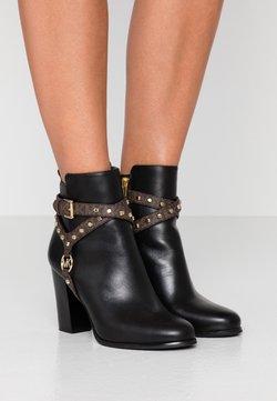 MICHAEL Michael Kors - PRESTON BOOTIE - High heeled ankle boots - black/brown
