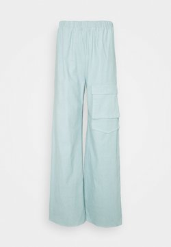Missguided - WIDE LEG UTILITY TROUSERS - Stoffhose - dusky blue