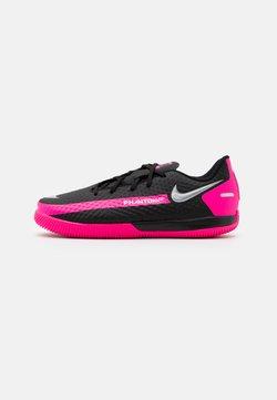 Nike Performance - JR PHANTOM GT ACADEMY IC UNISEX - Fotballsko innendørs - black/metallic silver/pink blast