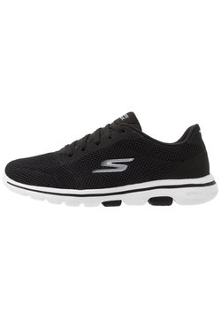 Skechers Performance - GO WALK 5 LUCKY - Walking trainers - black/white