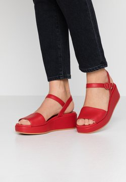 Camper - MISIA - Platform sandals - medium red