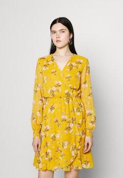 Vero Moda - VMZALLIE WRAP DRESS - Kjole - chai tea/zallie