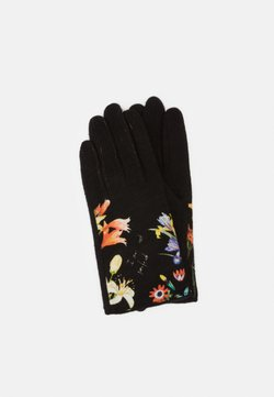 Desigual - GLOVES FLOWERISH - Fingerhandschuh - black