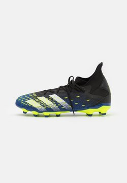 adidas Performance - PREDATOR FREAK .3 MG - Chaussures de foot à crampons - core black/footwear white/solar yellow