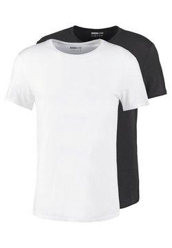 Pier One - 2 PACK - Basic T-shirt - white/black