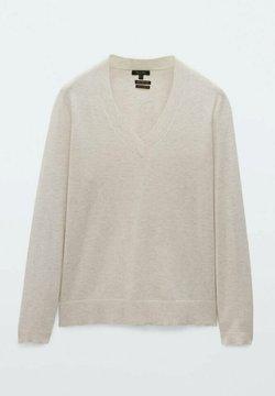 Massimo Dutti - Stickad tröja - light grey
