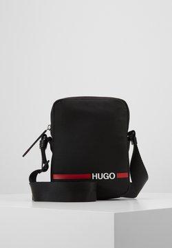 HUGO - RECORD ZIP - Sac bandoulière - black