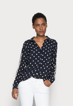 More & More - DOTTED BLOUSE - Bluse - marine