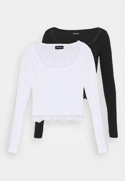Even&Odd Petite - 2 PACK - Longsleeve - black/white