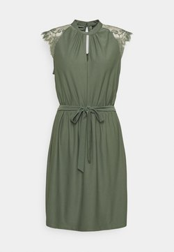Vero Moda - VMMILLA SHORT DRESS - Cocktailkleid/festliches Kleid - laurel wreath