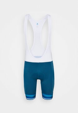 ODLO - SHORT SUSPENDERS ZEROWEIGHT CERAMICOOL PRO - Tights - mykonos blue melange/white