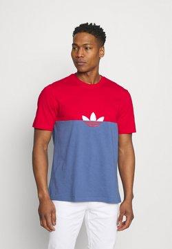 adidas Originals - SLICE BOX - T-shirt con stampa - crew blue/scarlet