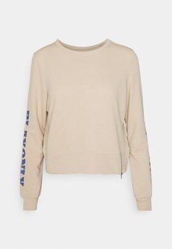 ONLY Play - ONPJELLY O-NECK ZIP - Sweater - doeskin