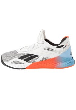 Reebok - NANO X - Sportschoenen - white/blue/vivid orange