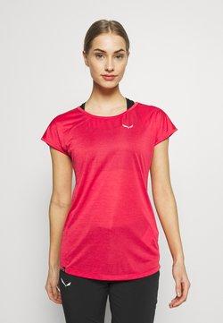 Salewa - PUEZ DRY TEE - Basic T-shirt - rose/red melange