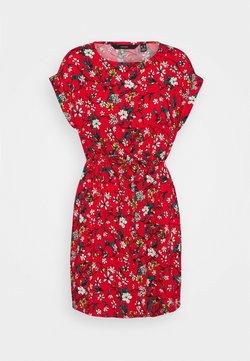 Vero Moda Petite - VMSIMPLY EASY TIE SHORT DRESS - Robe d'été - goji berry