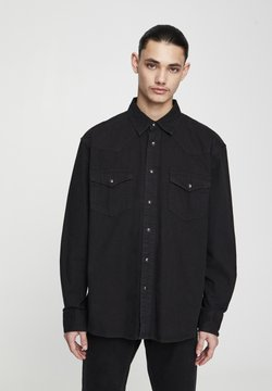 PULL&BEAR - Camicia - black denim