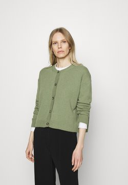 Marc O'Polo - ROUND NECK - Strickjacke - dried sage