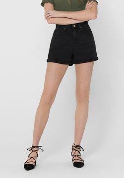 ONLY - JEANSSHORTS REGULAR FIT - Jeans Shorts - black
