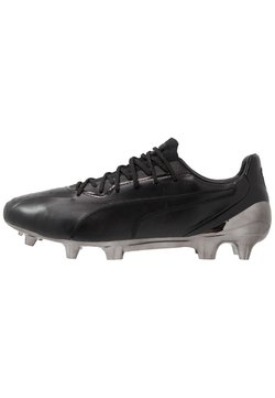 Puma - KING PLATINUM FG/AG - Moulded stud football boots - black/white