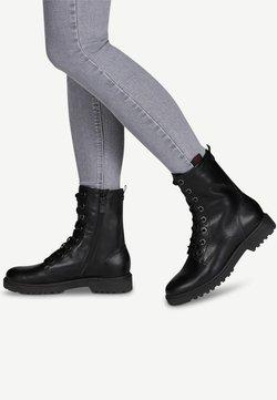 Tamaris - BOOTS - Schnürstiefelette - black leather