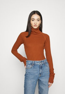 NU-IN - EXTRA LONG SLEEVE  - Maglione - burnt orange