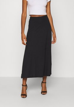 Even&Odd - Basic maxi skirt - Falda acampanada - black