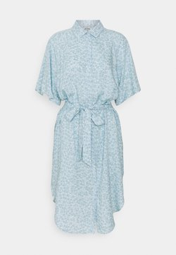 Monki - MIMMI DRESS - Blusenkleid - blue dusty light
