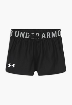 Under Armour - PLAY UP SOLID SHORTS - kurze Sporthose - black/metallic silver